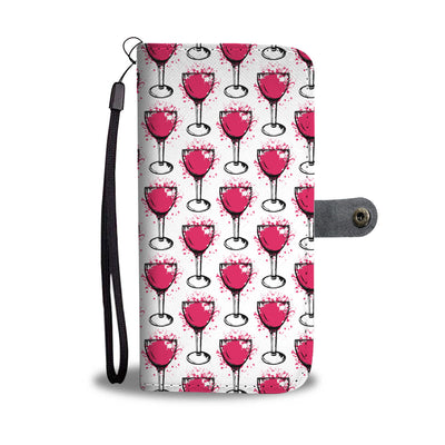 Wine Splash Wallet Phone Case