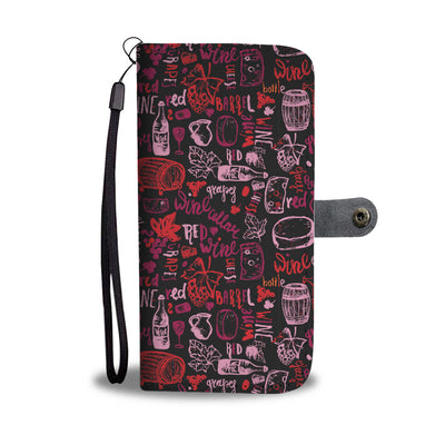Red Wine Wallet Phone Case