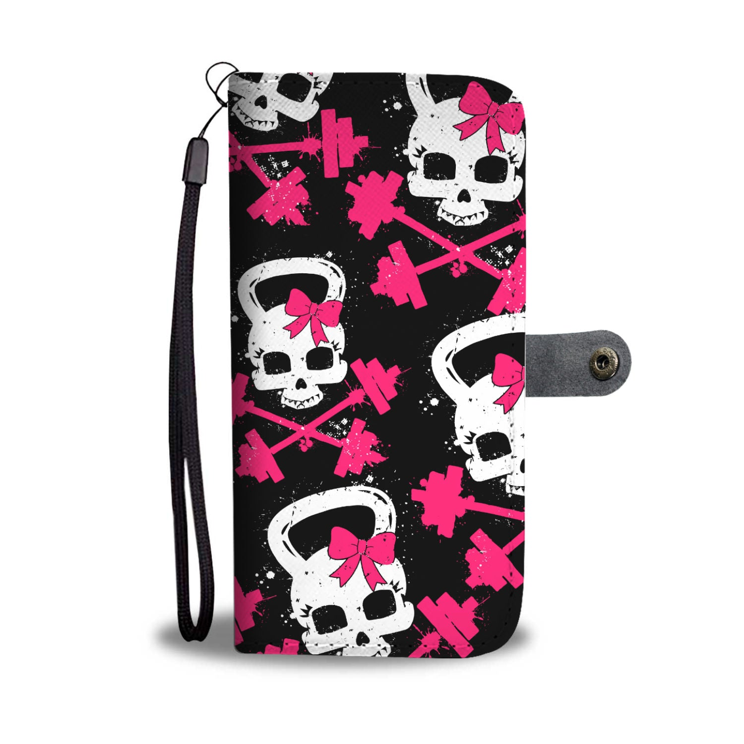 Gym Skull Wallet Phone Case