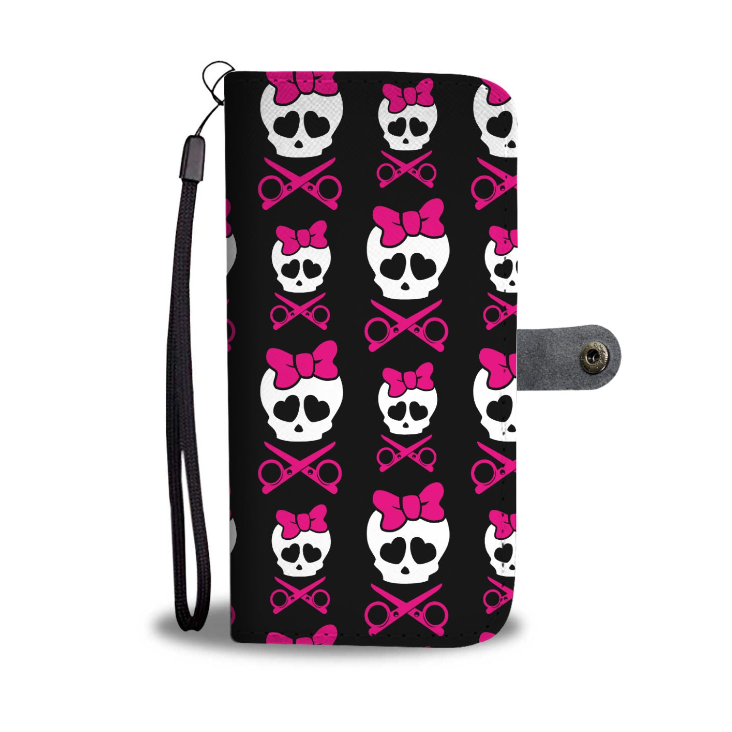 Skull N Shears Wallet Phone Case