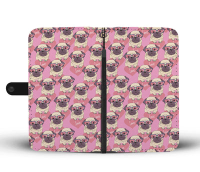 Love Pug Wallet Phone Case