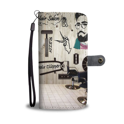 Hipster Hairstylist Wallet Phone Case