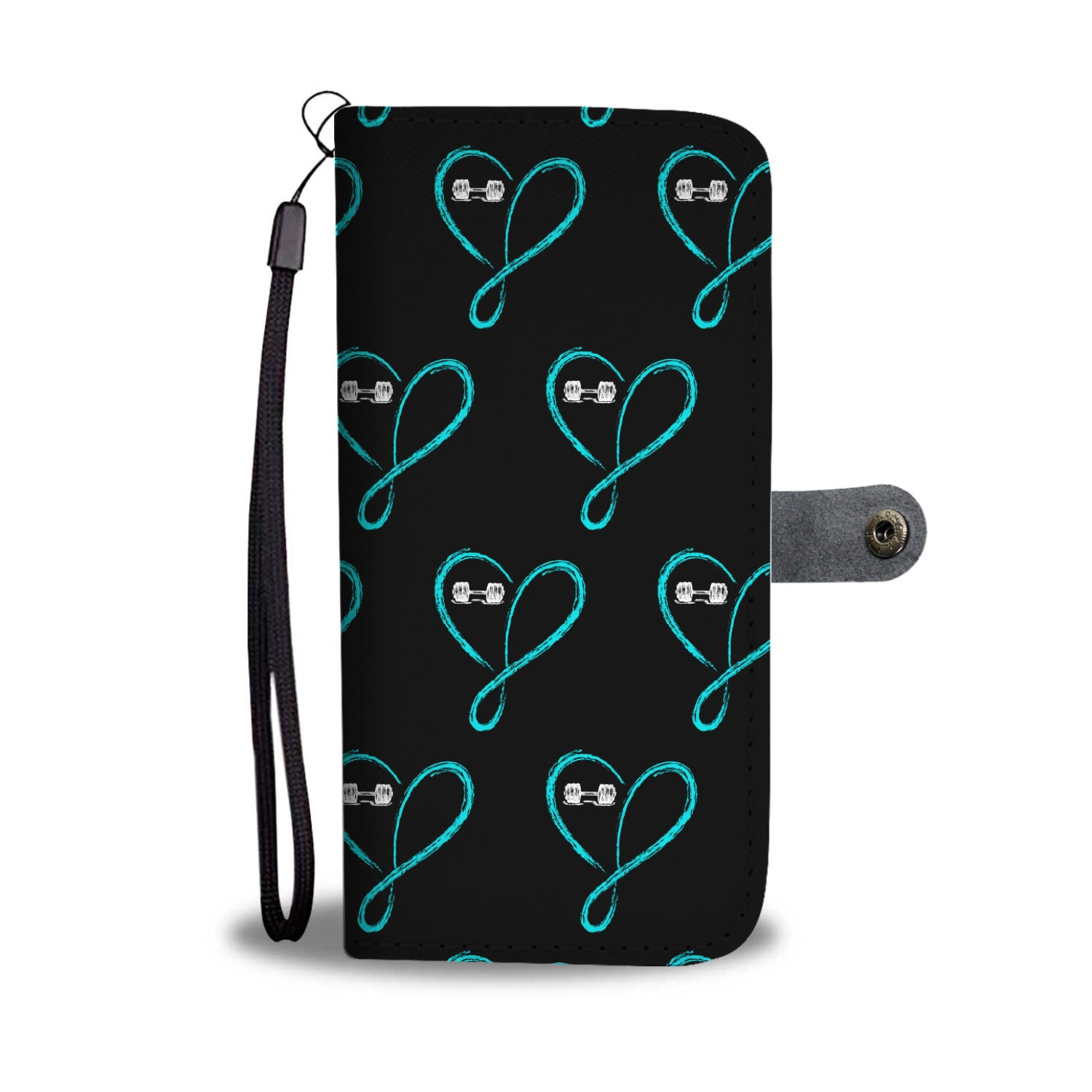 Love Infinity Barbell Wallet Phone Case