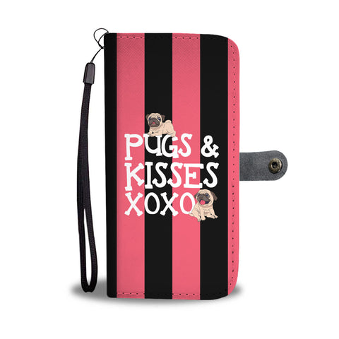 Pugs N Kisses Wallet Phone Case