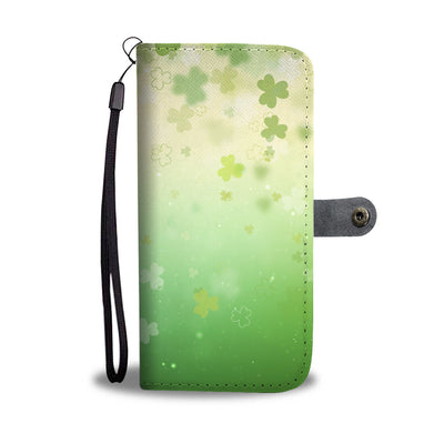 Faded Clovers Wallet Phone Case
