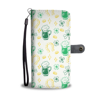 Horseshoe And Beers Wallet Phone Case