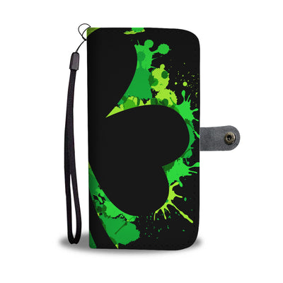 Shamrock Splash Wallet Phone Case