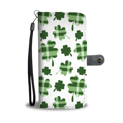 Plaid Shamrocks Wallet Phone Case