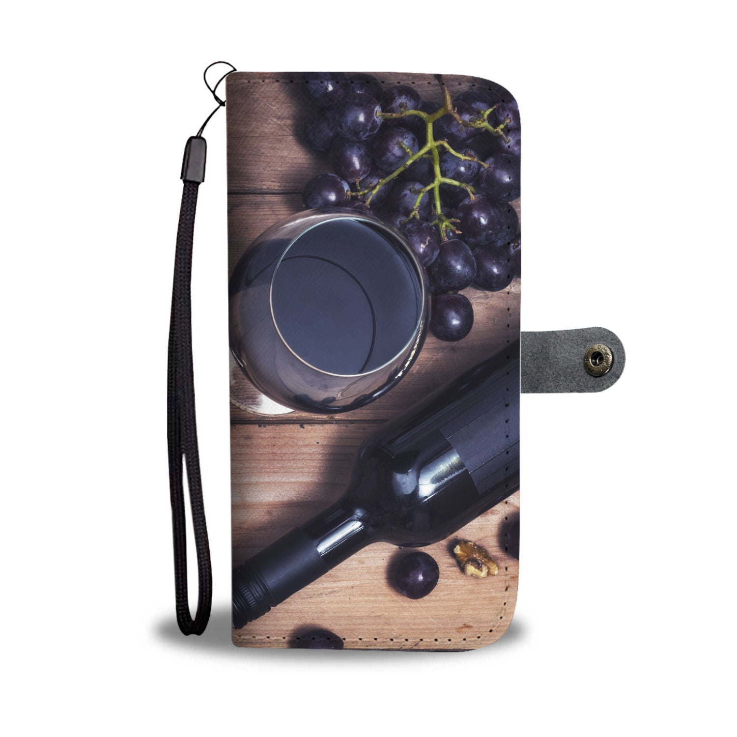 Wine and Grapes Wallet Phone Case - wine bestseller