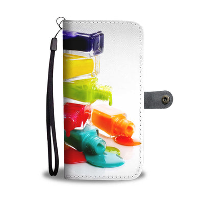 Colorful Nail Polish Wallet Phone Case