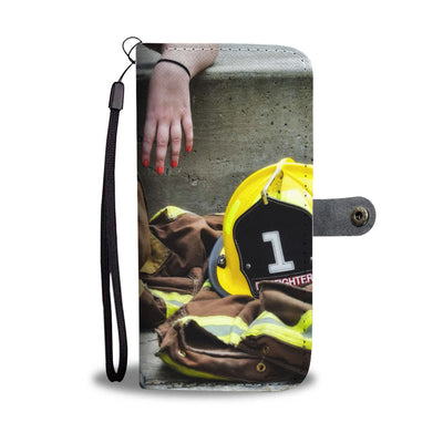 Women Firefighter Wallet Phone Case - firefighter bestseller