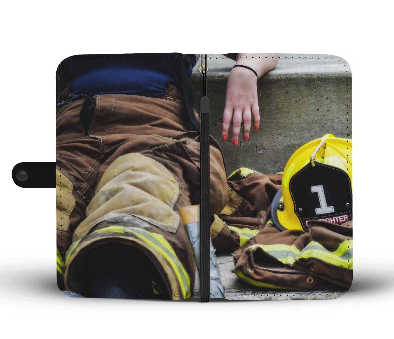 Women Firefighter Wallet Phone Case