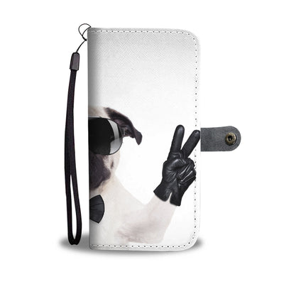 Peace Pugs and Wine Wallet Phone Case