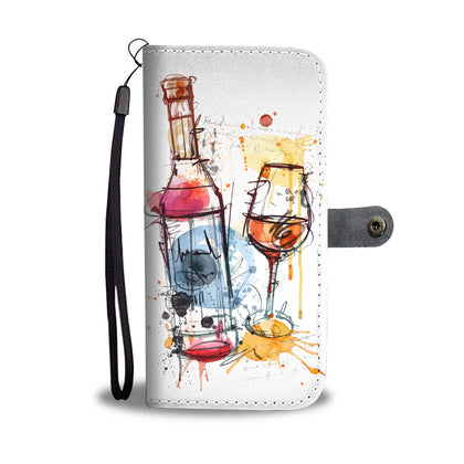 Artistic Wine Wallet Phone Case