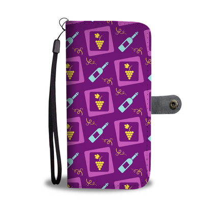 Neon Wine Wallet Phone Case