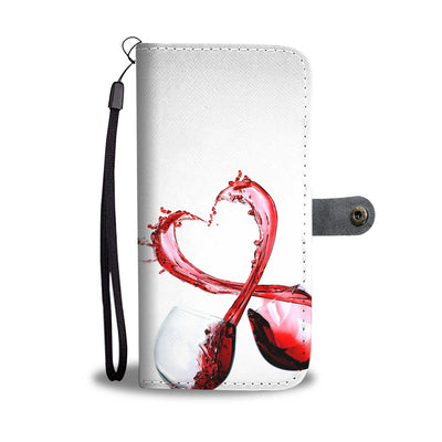 Wine Love Wallet Phone Case