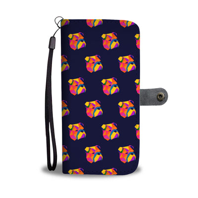 Abstract Bulldog Wallet Phone Case