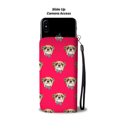 Bulldog With Tie Wallet Phone Case