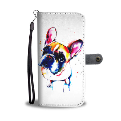 Painted Frenchie Wallet Phone Case