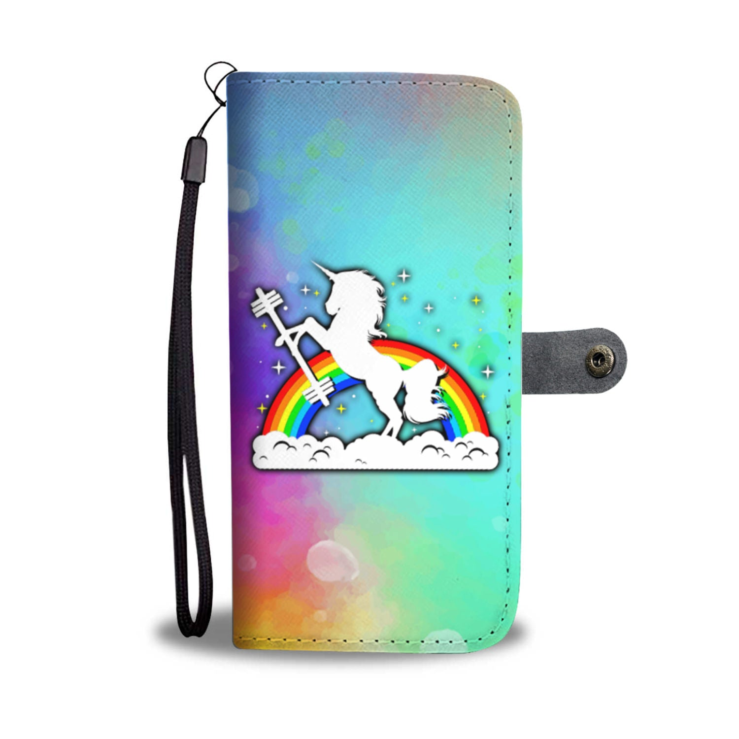 Gym Unicorn Wallet Phone Case