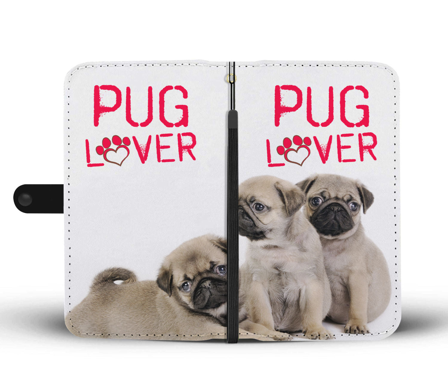Pug Lover Wallet Phone Case