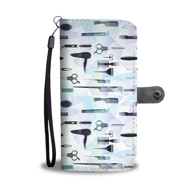 Abstract Hair Tools Wallet Phone Case