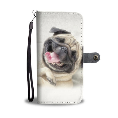 Laughing Pug Wallet Phone Case