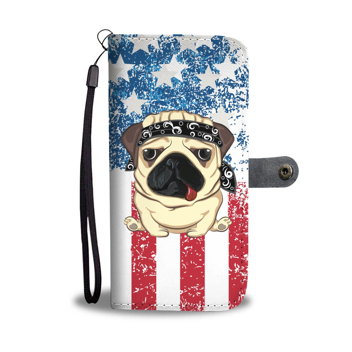 American Pug Wallet Phone Case