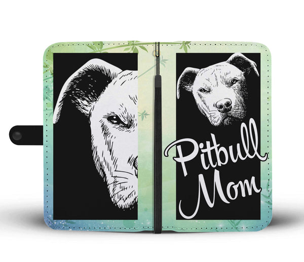Pretty Cute Pitbull mom Wallet Case