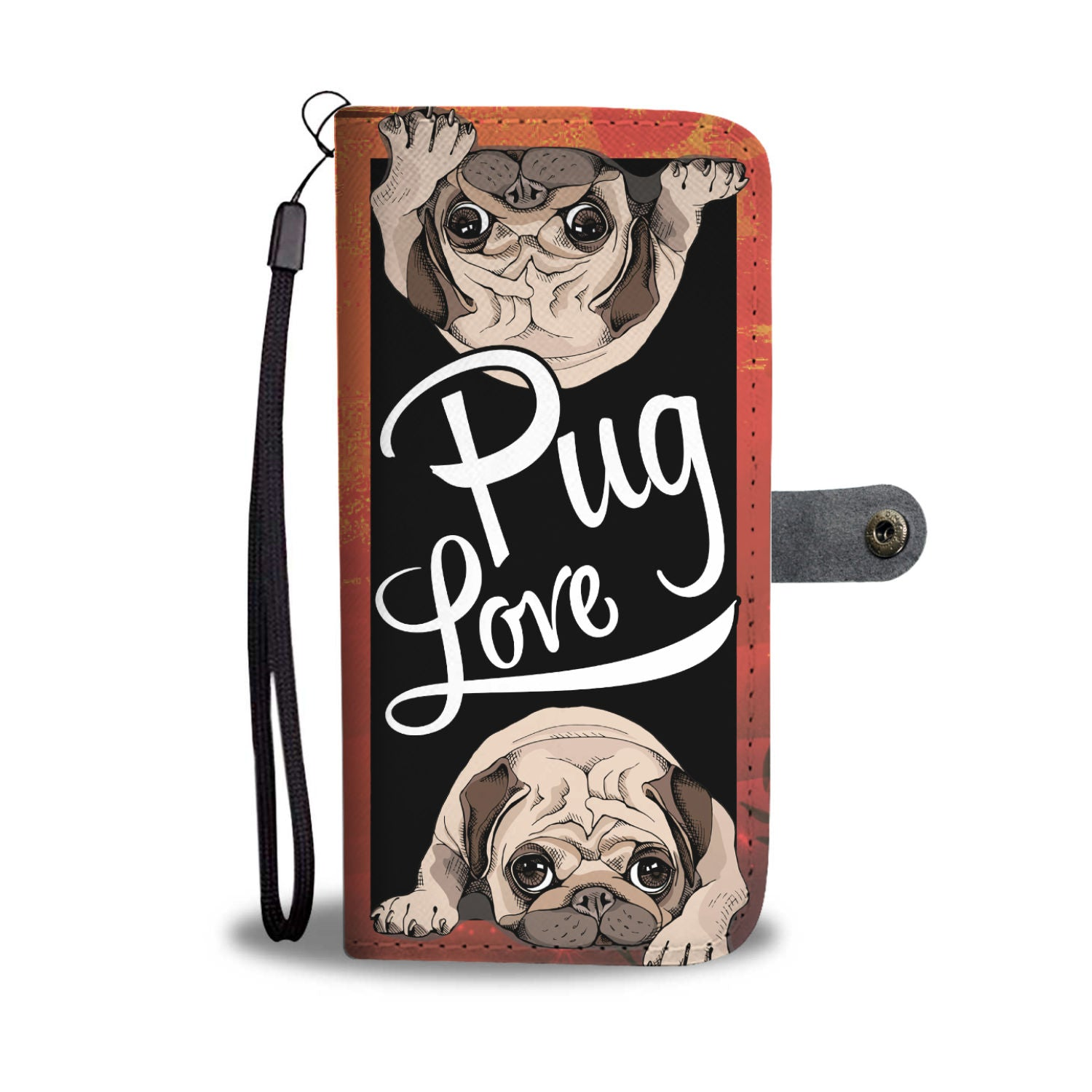 Pug Love Womens Wallet case - pug bestseller