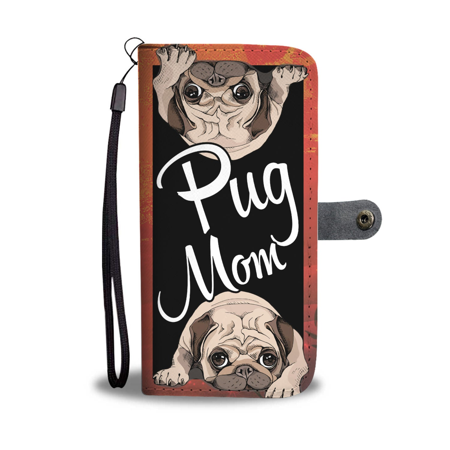 Pug mom Wallet case