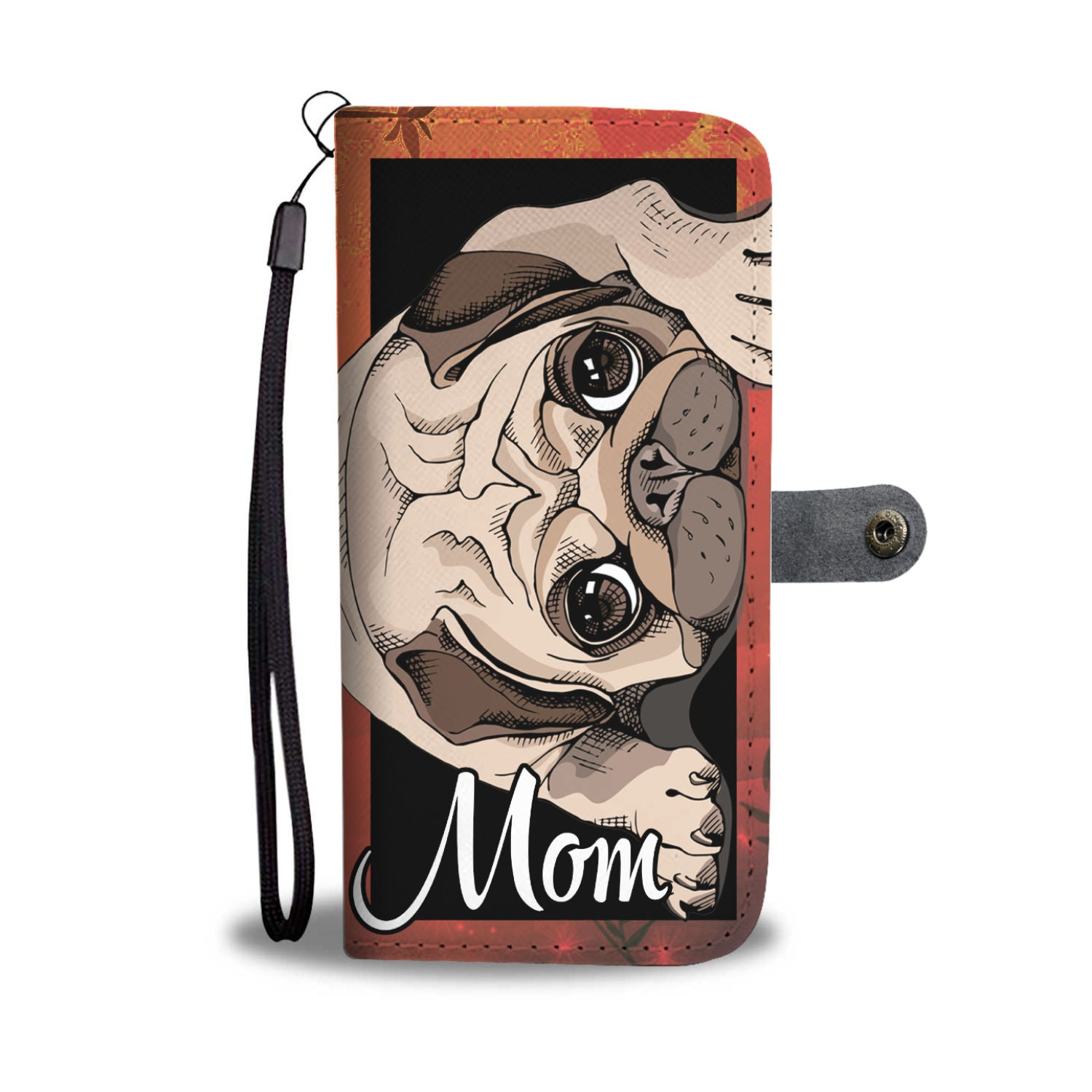 Cute Pug mom wallet case