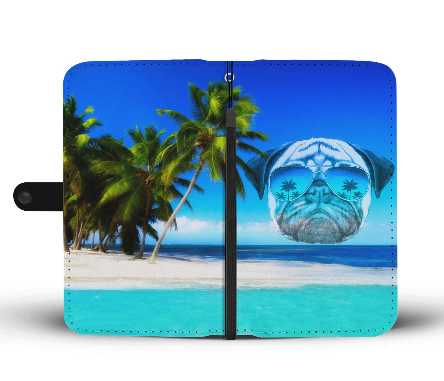 Paradise Pug Wallet Phone Case