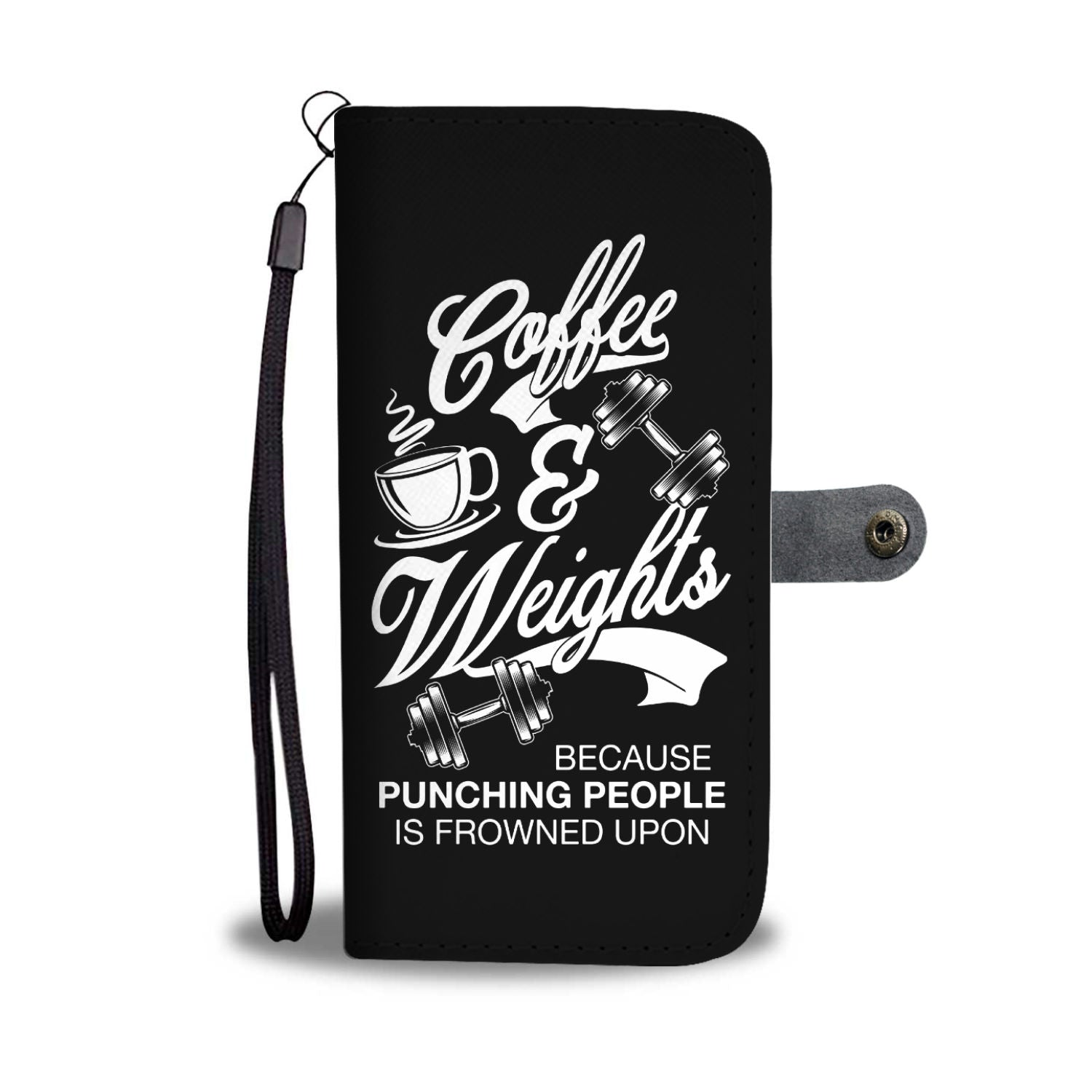 Coffee and Weights Wallet Phone Case
