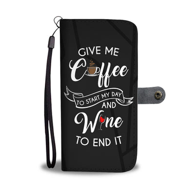 Coffee and Wine Wallet Phone Case