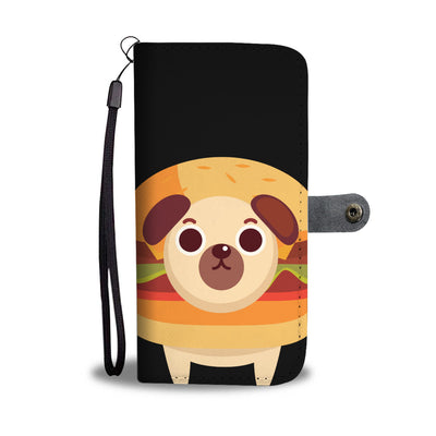 Burger and Donut Pug Wallet Phone Case