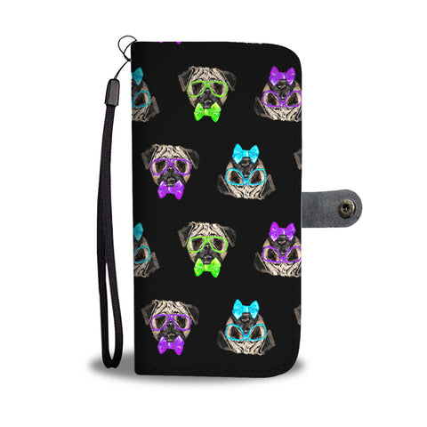Hipster Pugs Wallet Phone Case