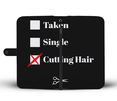 Single Taken Cutting Hair Wallet Phone Case