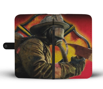 Fighting Fire Wallet Phone Case