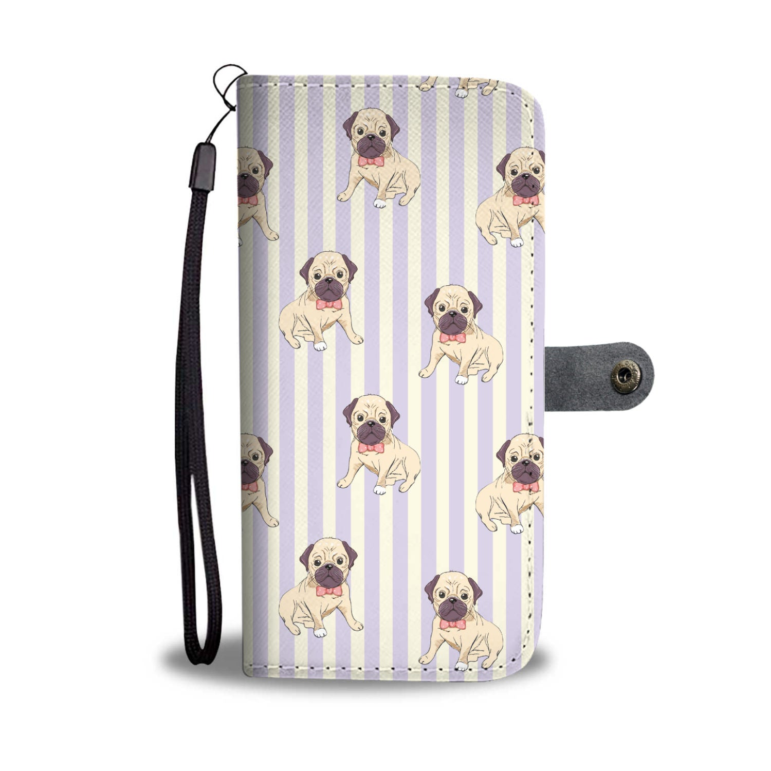 Pug Pups Wallet Phone Case