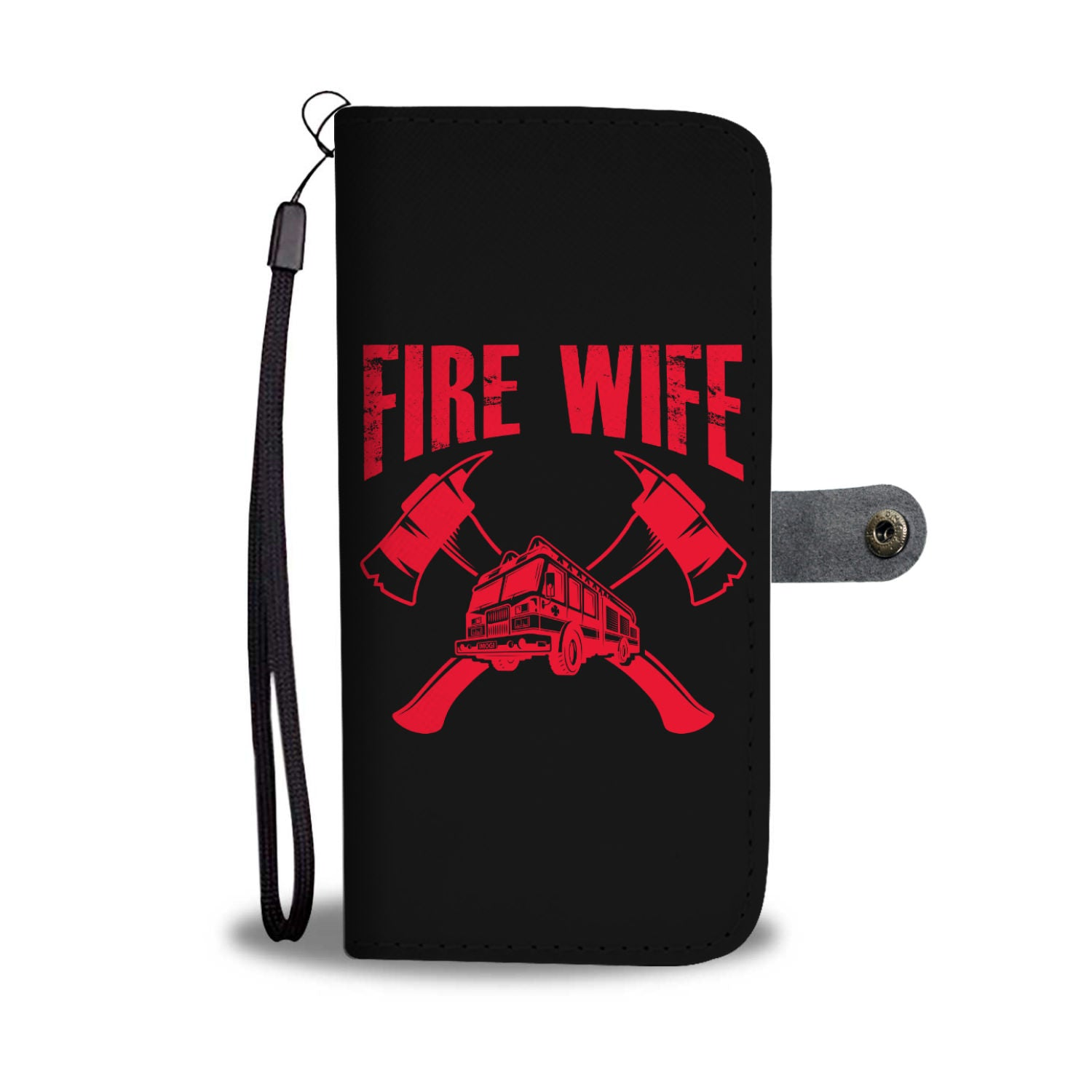 Fire Wife Wallet Phone Case - firefighter bestseller