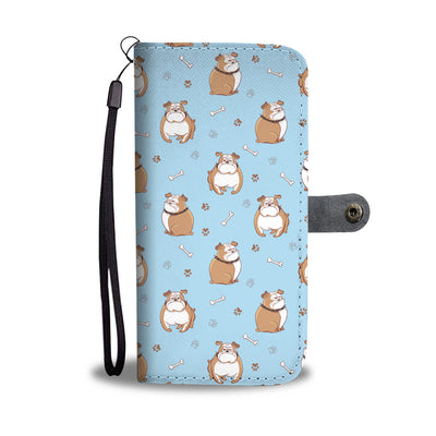 Grumpy Bulldog Wallet Phone Case