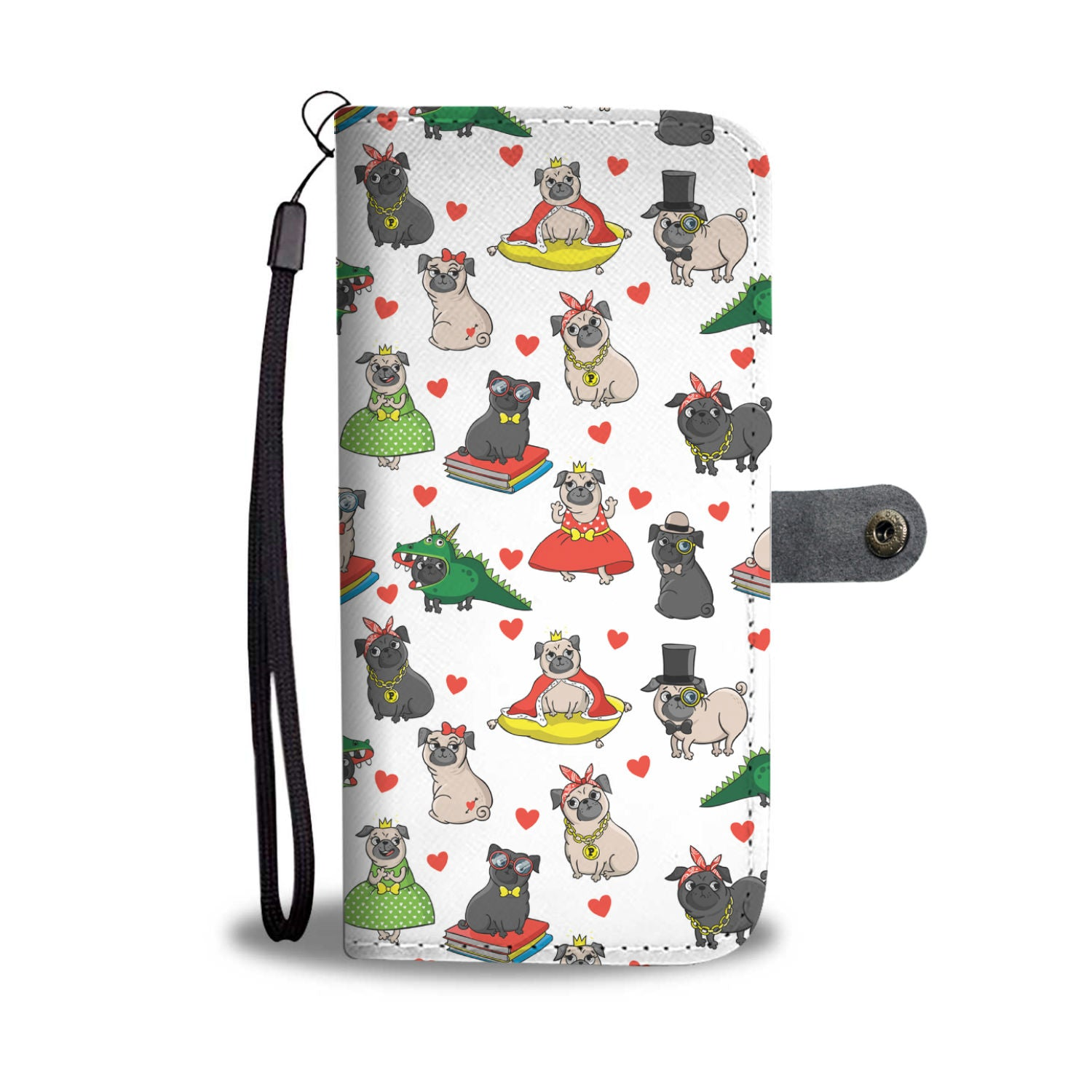 Pugs In Costume Wallet Phone Case - pug bestseller