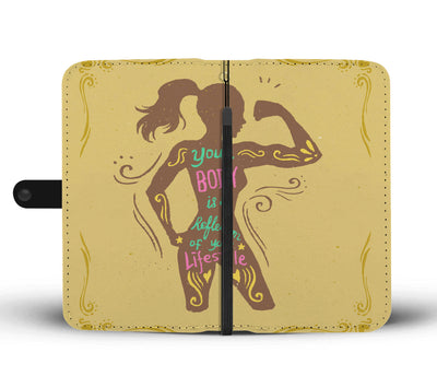 Your Body Is A Reflection Wallet Phone Case