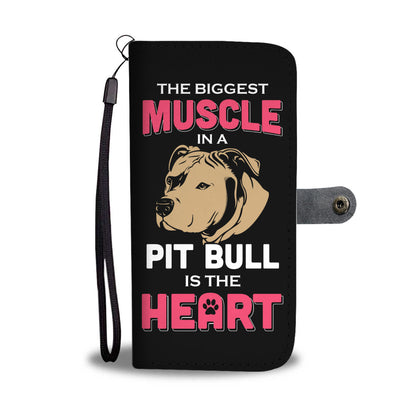 Pit Bull Heart Wallet Phone Case