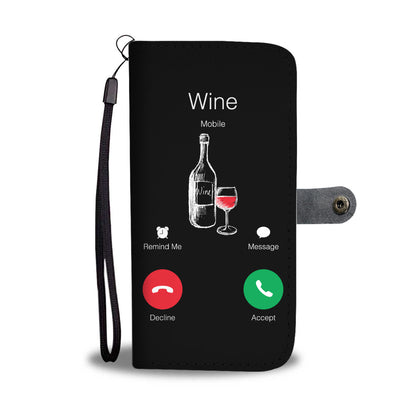 Wine Calling Wallet Phone Case