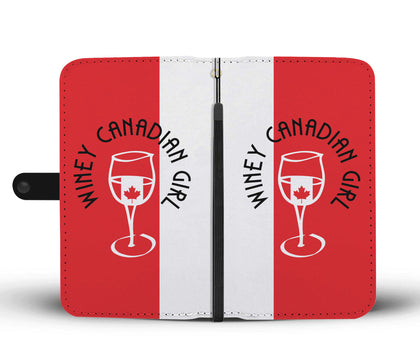 Winey Canadian Girl Wallet Phone Case