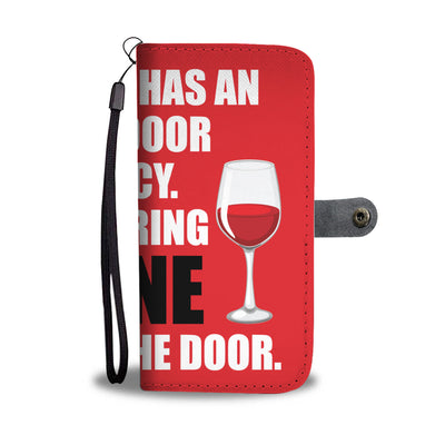 Open Door Policy Wallet Phone Case