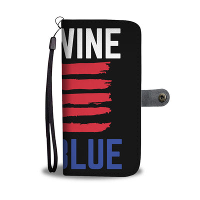 Red Wine And Blue Wallet Phone Case