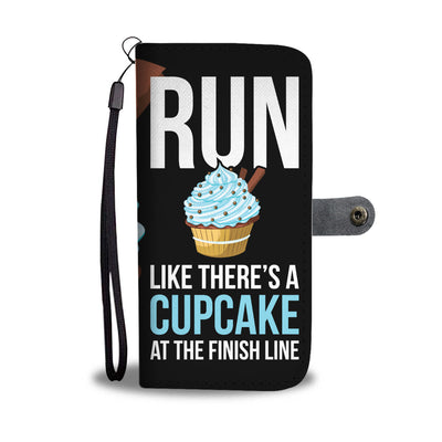 Cupcake At The Finish Line Wallet Phone Case